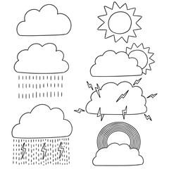 vector set of weather