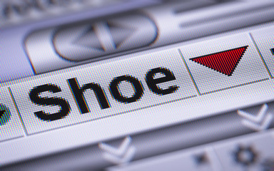 Shoe index on the screen. Down.