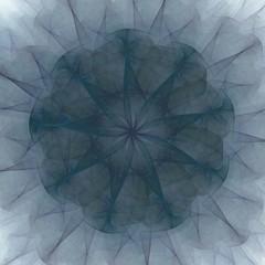 Florales Fraktal - dunkelblau