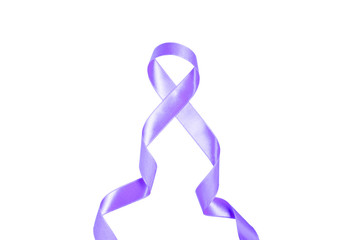 World Cancer Day purple ribbon