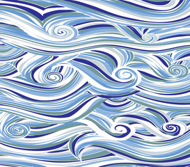 Abstract colored background is imitating the sea waves.Vector