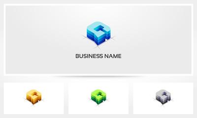 Letter G Block Stack Logo