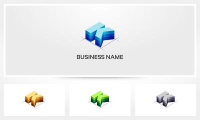 Letter K Block Stack Logo