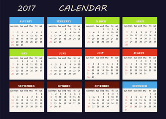 Calendar on a blue background