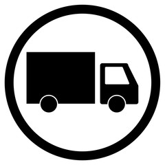 Lorry delivery icon