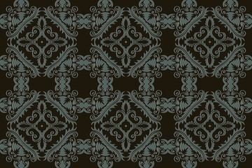 Monochrome abstract background texture pattern in rococo style, victorian , in renaissance , in baroque .