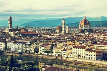 Beautiful Florence, Tuscany, Italy, retro photo