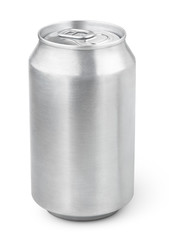 330 ml aluminum beverage drink soda can isolated on white background with clipping path