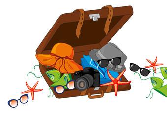 valigia viaggio mare
