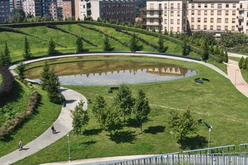 Milan (Italy): park at Portello