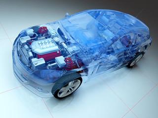 Wall Mural - Transparent model cars.