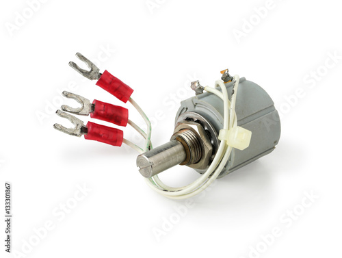 Super Variable Resistor Potentiometer Isolated On White Background Cli Wiring Cloud Hisonuggs Outletorg