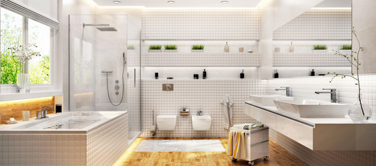 Big bathroom white