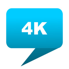 4k blue bubble icon