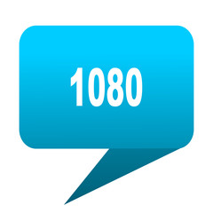 1080 blue bubble icon