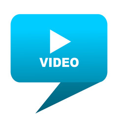video blue bubble icon
