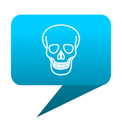 skull blue bubble icon