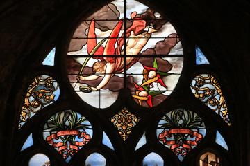 Vitrail. Eglise Saint-Nizier de Lyon. / Stained glass. Saint-Nizier Church. Lyon.