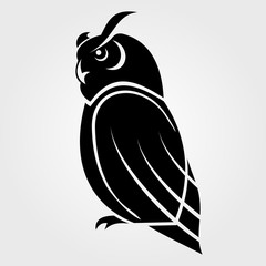 Owl icon on a white background