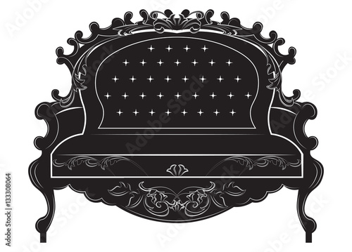 Rich Baroque Sofa French Luxury Rich Carved Ornaments