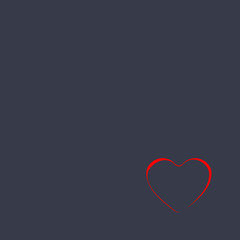 Valentine's Day chalkboard tone background with red heart