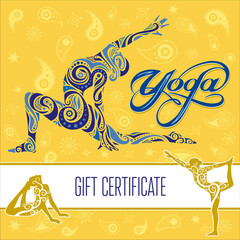Search photos gift certificate for Yoga gift certificate template free