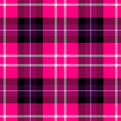 check diamond tartan plaid fabric seamless pattern texture background - hot pink, purple, white and gray color