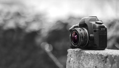 Digital camera with an old fisheye lens