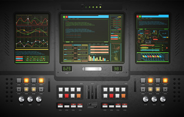 lo-fi user interface. Creative template in the style of science fiction.