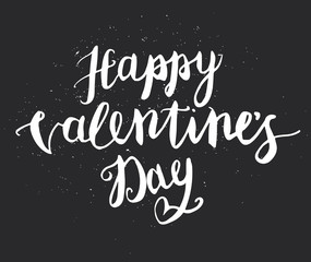 Foto op Aluminium Graffiti Happy Valentines Day Hand Drawing Pen Brush Lettering. Vector.