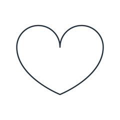 Heart isolated line icon on white background