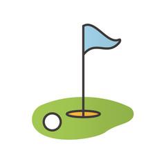 Golf course color icon