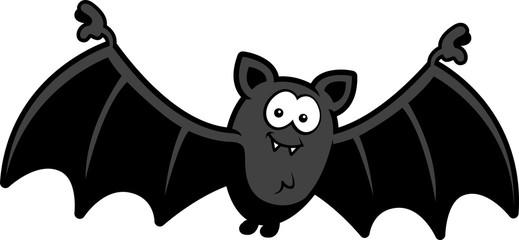 Cartoon Bat Smiling