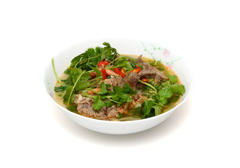 Hu Tieu or Vietnamese Pork Rice Noodle Soup