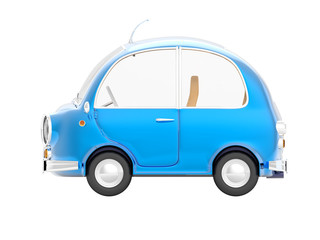round small car blue side