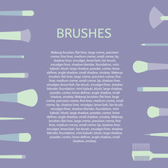 Makeup Brush background. Template text