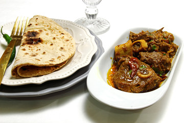 Mutton curry and chapati