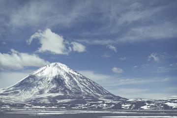 Fototapete - Atacama desert, Bolivia with majestic colored mountains and blue