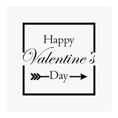 Happy Valentine's Day on a grey background
