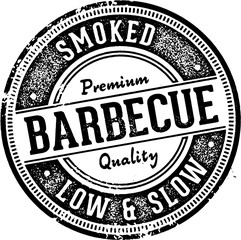 Vintage Style Barbecue Restaurant Sign