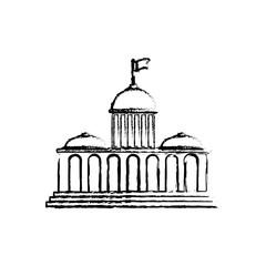 Court building symbol icon vector illustration graphic design