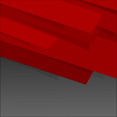 Background on black with red layers