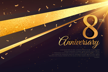 8th anniversary celebration card template Wall mural