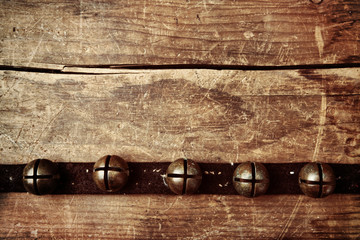 Background with vintage sleigh bells