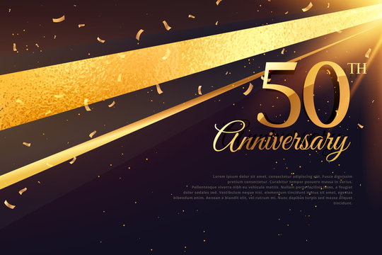 50th anniversary celebration card template