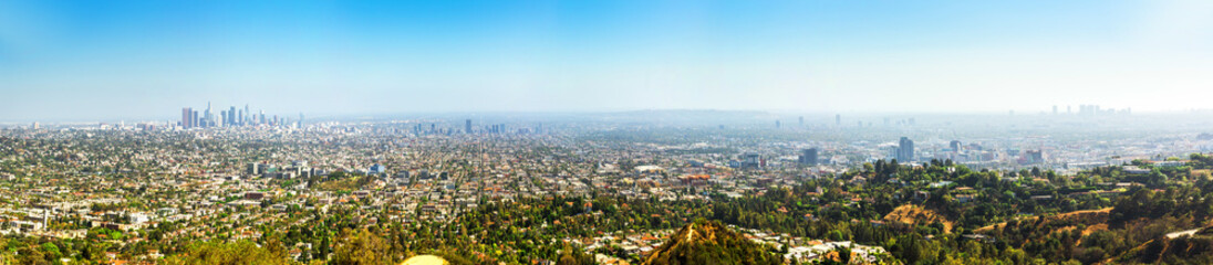 Photo sur Aluminium Los Angeles Skyline, Los Angeles panorama