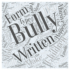 What is Bullying Word Cloud Concept
