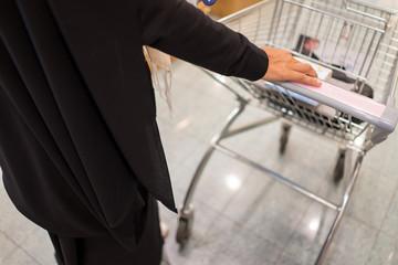 Hijab Arab ladies doing shopping