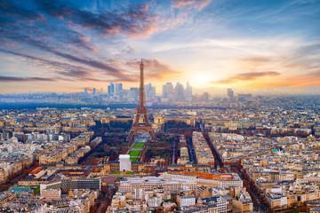 Paris im Sonnenuntergang Fototapete