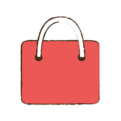 drawing bag gift paper shop online symbol vector illustration eps 10